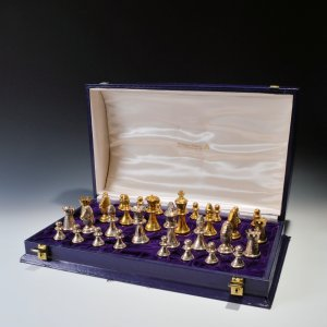 SOLID SILVER CHESS SET