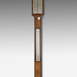 ANTIQUE STICK BAROMETER BY F & C LAKE, TAUNTON