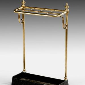 ANTIQUE EIGHT DIVISION BRASS STICK STAND