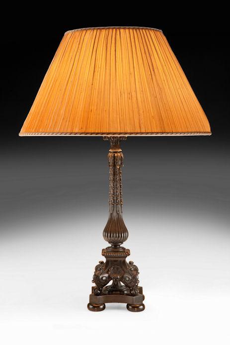 ANTIQUE 19TH CENTURY BRONZE TABLE LAMP
