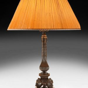 ANTIQUE 19TH CENTURY BRONZE TABLE LAMP