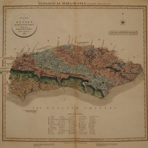 ANTIQUE WILLIAM SMITH GEOLOGICAL MAP OF SUSSEX