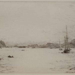 WILLIAM LIONEL WYLLIE - ETCHING - THE WESTERN ISLES