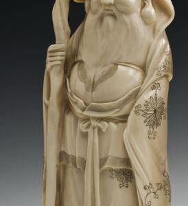 JAPANESE IVORY OKIMONO FUKUROKUJU