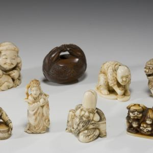 SELECTION JAPANESE IVORY NETSUKE