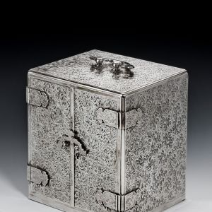 SUPERB JAPANESE SILVER KODANSU FORMED AS A JEWELLERY BOX