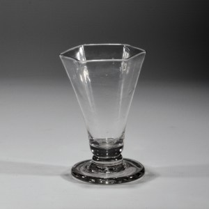 ANTIQUE SIX SIDED DRINKING GLASS