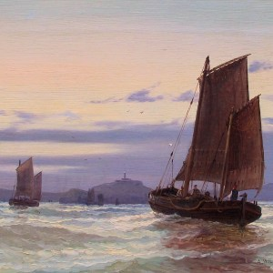 ARTHUR WILDE PARSONS- OIL PAINTING-FIRTH OF FORTH