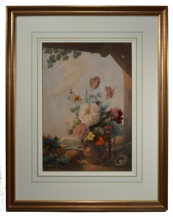 george-baxter-print-the-gardeners-shed-antique-DSC_9268