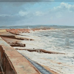 RODNEY CHARMAN-PAIR OIL PAINTINGS-MILFORD & KEYHAVEN