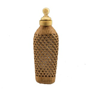 19TH CENTURY WICKER COVERED SCENT BOTTLE