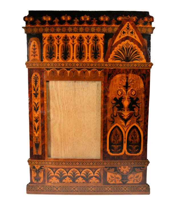 ANTIQUE MARQUETRY PHOTOGRAPH FRAME