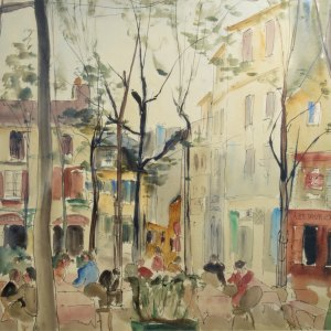 MAUD FRANCES EYSTON SUMNER-WATERCOLOUR-PARIS
