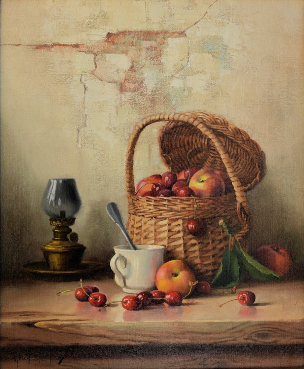 ROBERT CHAILLOUX-OIL PAINTING-STILL LIFE WITH FRUIT