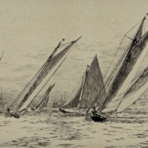 william-wyllie-etching-royal-albert-yacht-club-southsea-