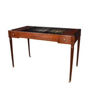 ANTIQUE REGENCY MAHOGANY TRIC TRAC TABLE