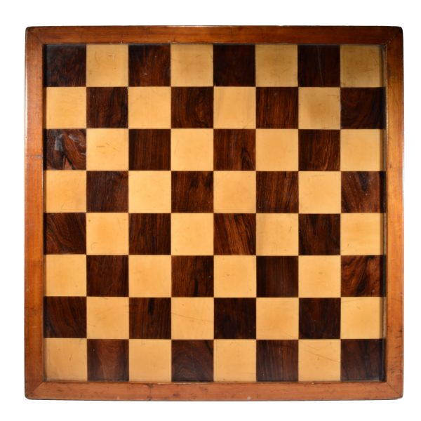 ANTIQUE WOODEN CLUB SIZE CHESS BOARD FOR SALE UK