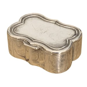 SILVER PILL BOX WITH GILDED INTERIOR