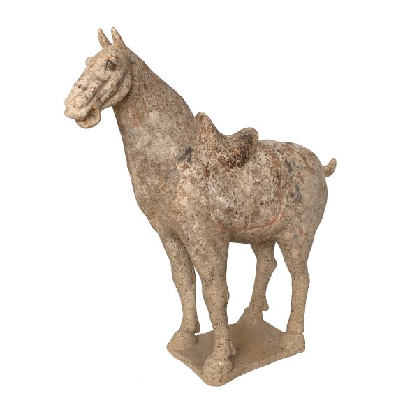 ANTIQUE TANG DYNASTY CHINESE FIGURE OF A HORSE