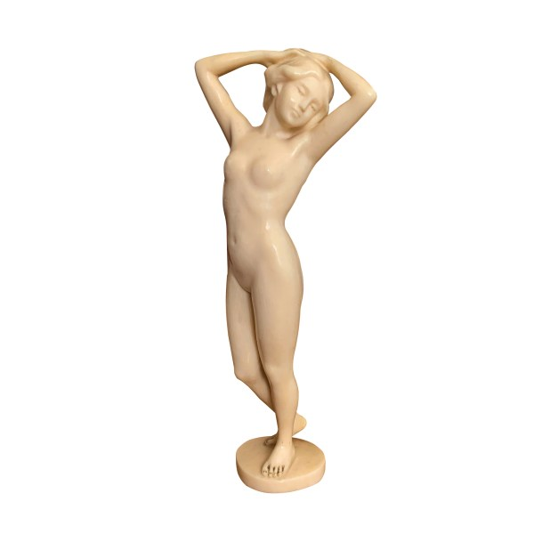 FOR SALE IN UK ANTIQUE CARVED IVORY FEMALE NUDE FIGURE