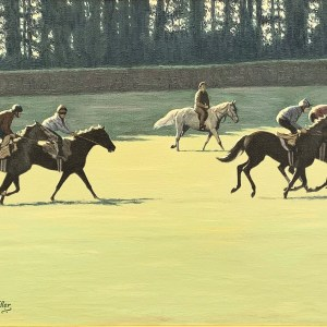RICHARD GARDNER HAS OIL PAINTINGS OF HORSE RACING FOR SALE
