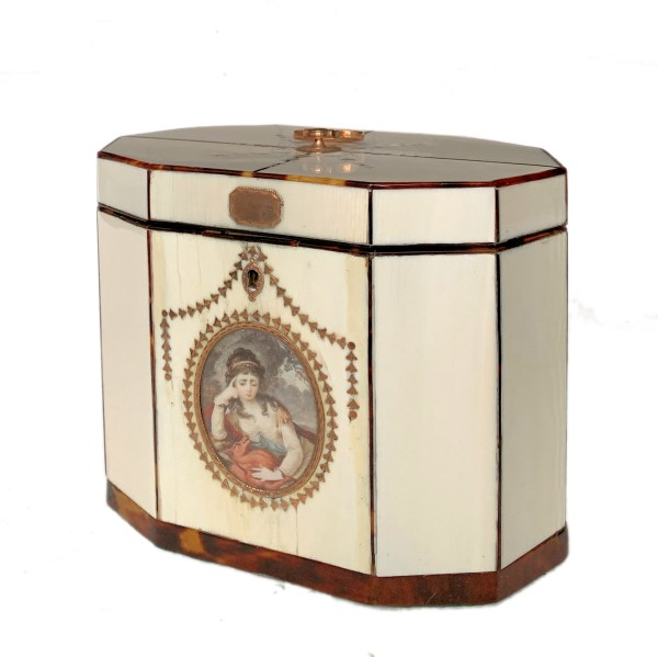 FIND ANTIQUE IVORY TEA CADDY FOR SALE IN UK