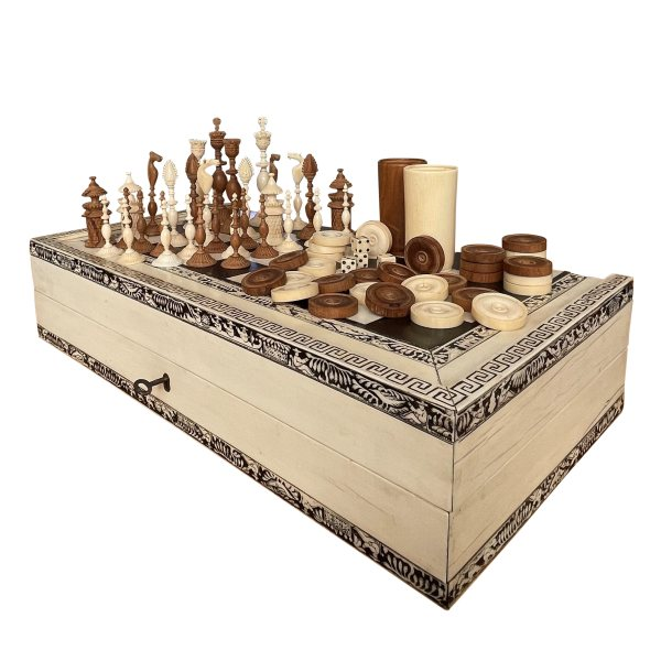 FIND VIZAGAPATHAM IVORY CHESS BACKGAMMON ITEMS FOR SALE IN UK
