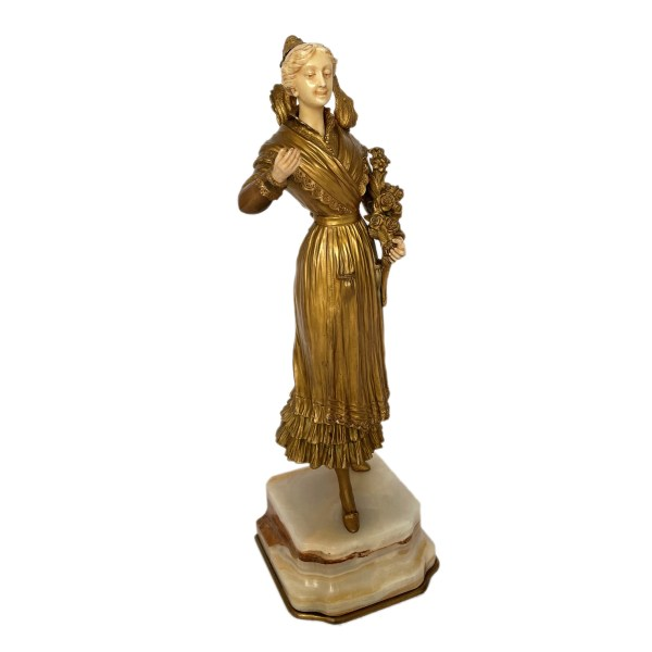 FIND ART DECO BRONZE FEMALE FIGURE FOR SALE IN UK