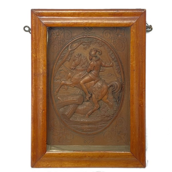 antique-carved-wooden-picture-wild-boar-hunt-IMG_6664A