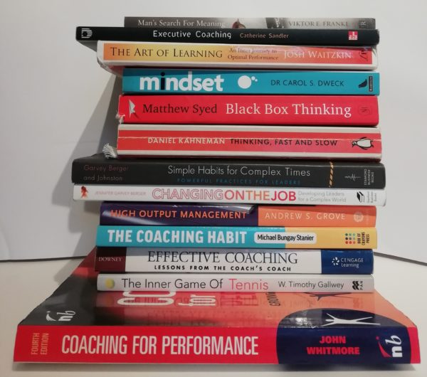 A collection of the best books about executive coaching