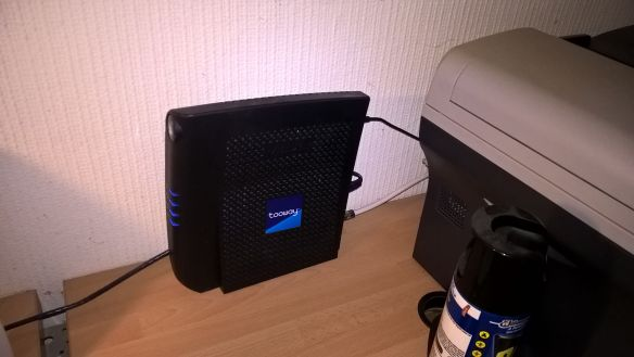 The router is just as small as any other router, and doesn't bother me much.