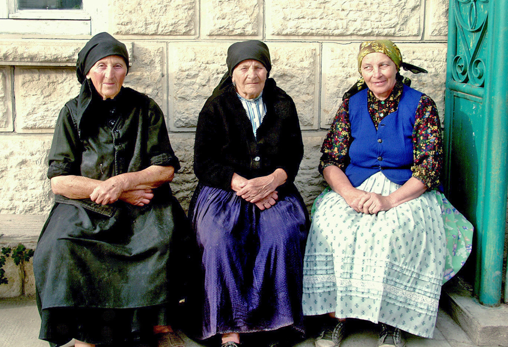 Three Older Ladies Bagara Hungary