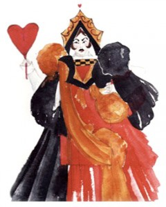 Alice in Wonderland Costume -Queen Of Hearts