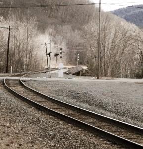 Tracks leaving the Hoosac tunnel