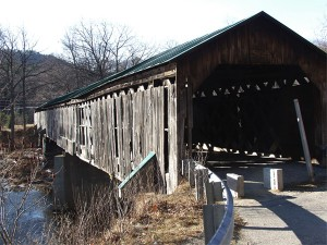Vermont Covered Bridge at Townshend Dam