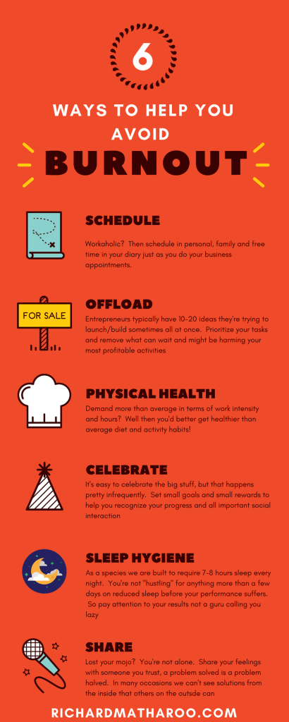 Infographic:  6 Burnout Avoiding Tips