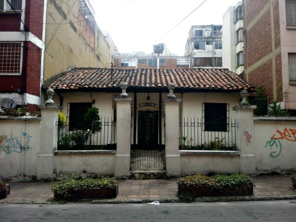 Nestled away in a backstreet of Chapinero is this colonial home
