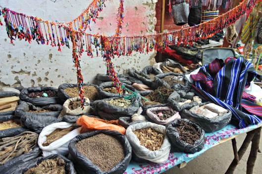 Spices in the Tuesday market at Silvia, Cauca