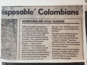Disposable Colombians