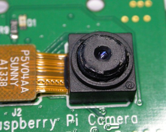 damaged Raspberry Pi lens