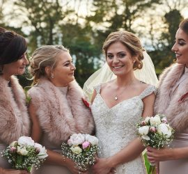 Bridesmaids at hardwicke hall hotel county durham wedding