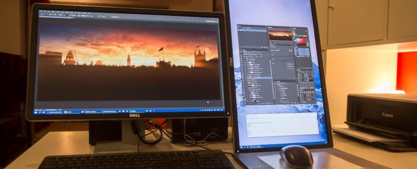 landscape monitor dual setup
