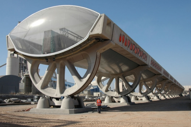 Airlight's giant solar collector, Ait Baha, Morocco.