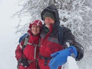 Colette & I on Dinedor Hill