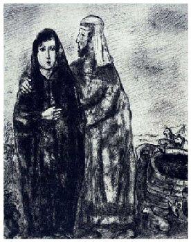 Chagall's Meeting of Jacob & Rachel