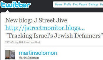 The case of the disappearing tweet: Solomonia's launch of J Street Jive