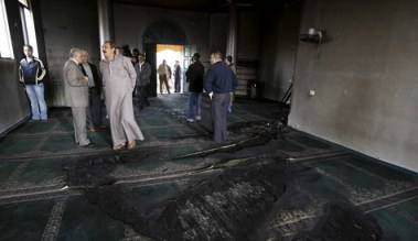Torched mosque of Beit Fajjar