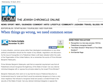 Jewish Chronicle BNP Carlos Cortiglia blog
