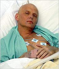 Litvinenko on deathbed