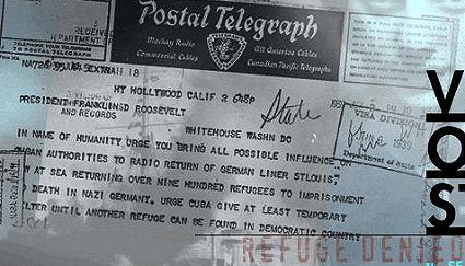 telegram appeal for s.s. st. louis refugees